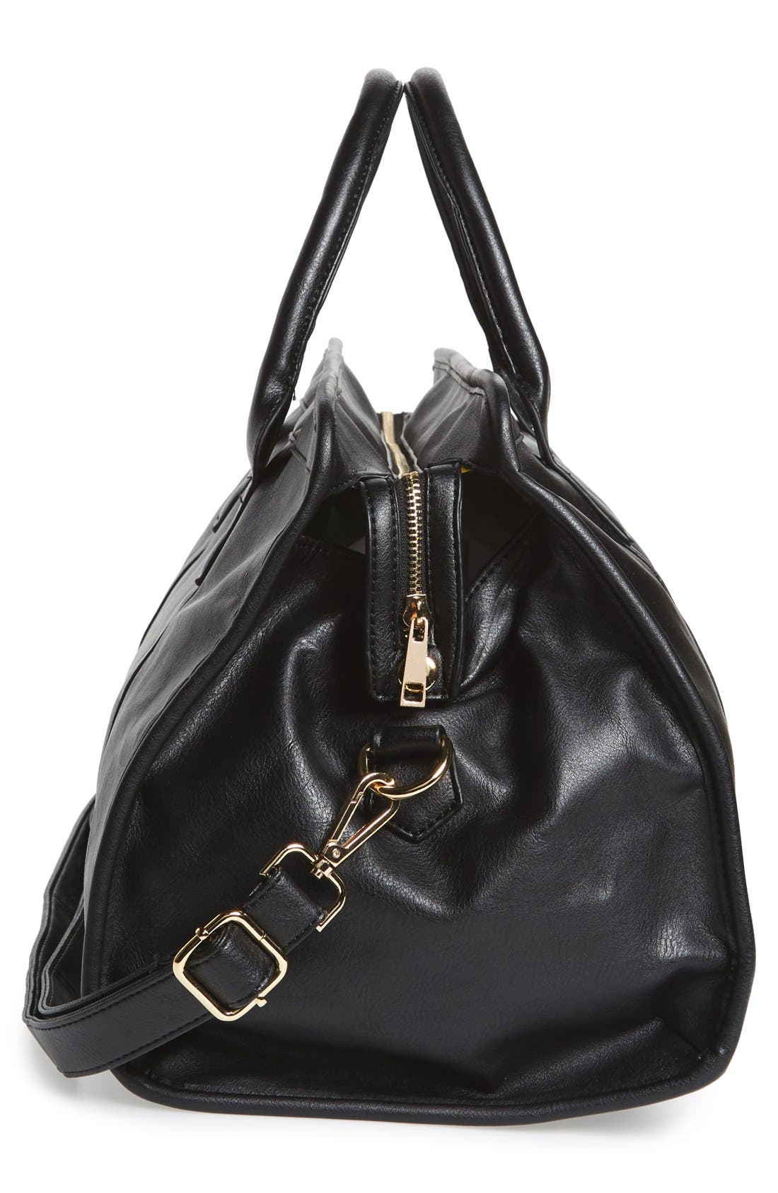 Alternate Image 5  - NU-G Faux Leather Overnighter Bag