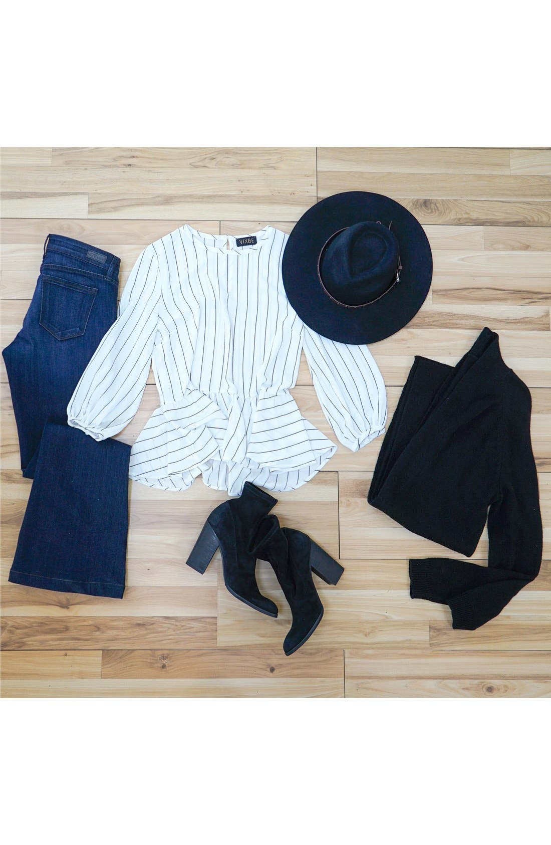 Alternate Image 7  - BP. Stripe Ruffle Hem Shirt