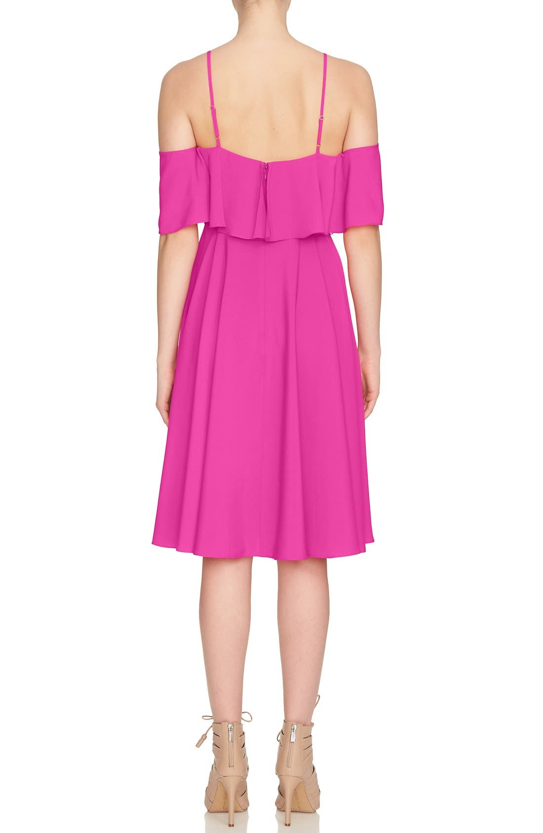 Alternate Image 3  - CeCe 'Jackie' Cold Shoulder Fit & Flare Dress
