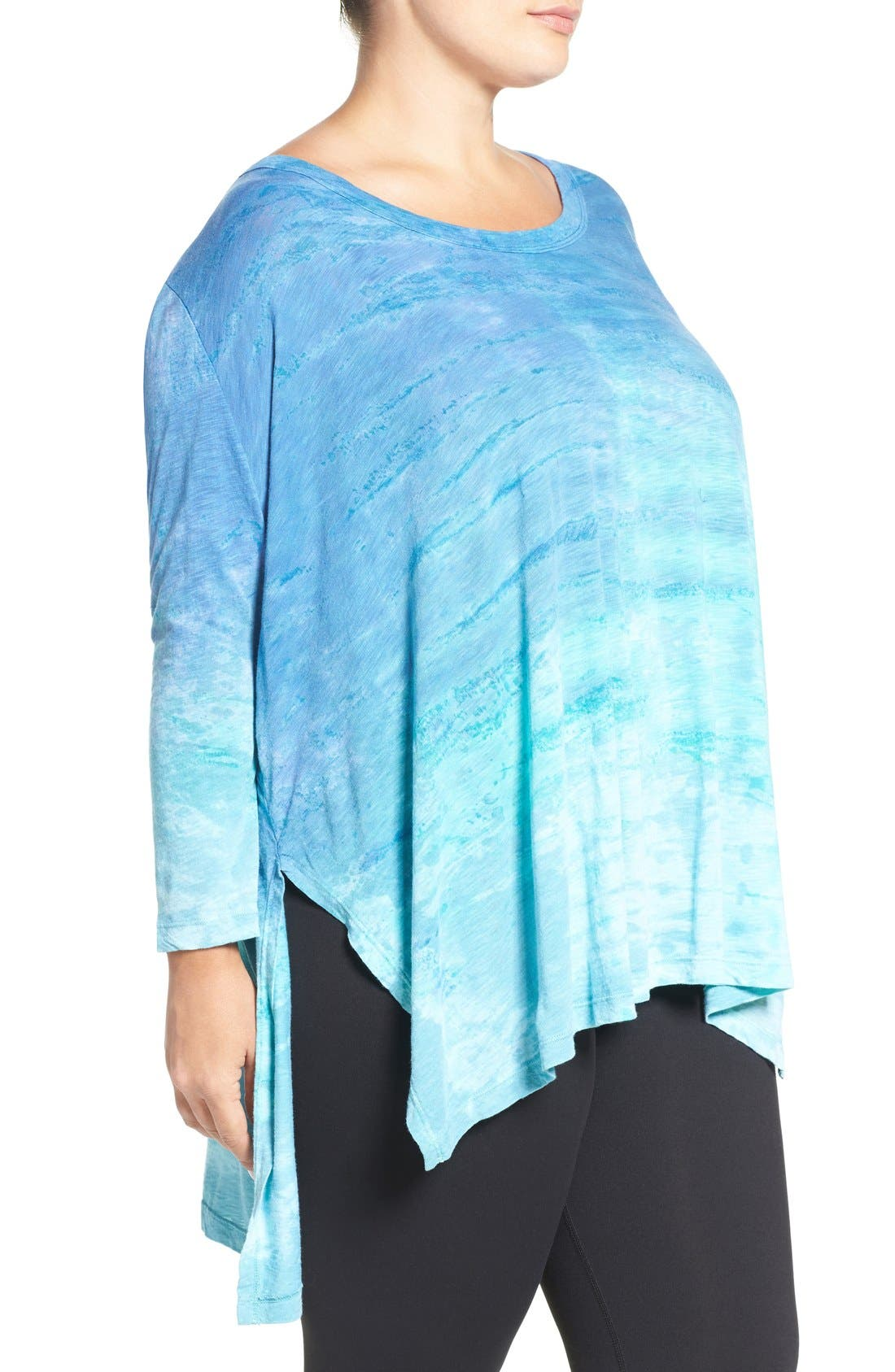Alternate Image 3  - Hard Tail Oversize Three-Quarter Sleeve Tee (Plus Size)