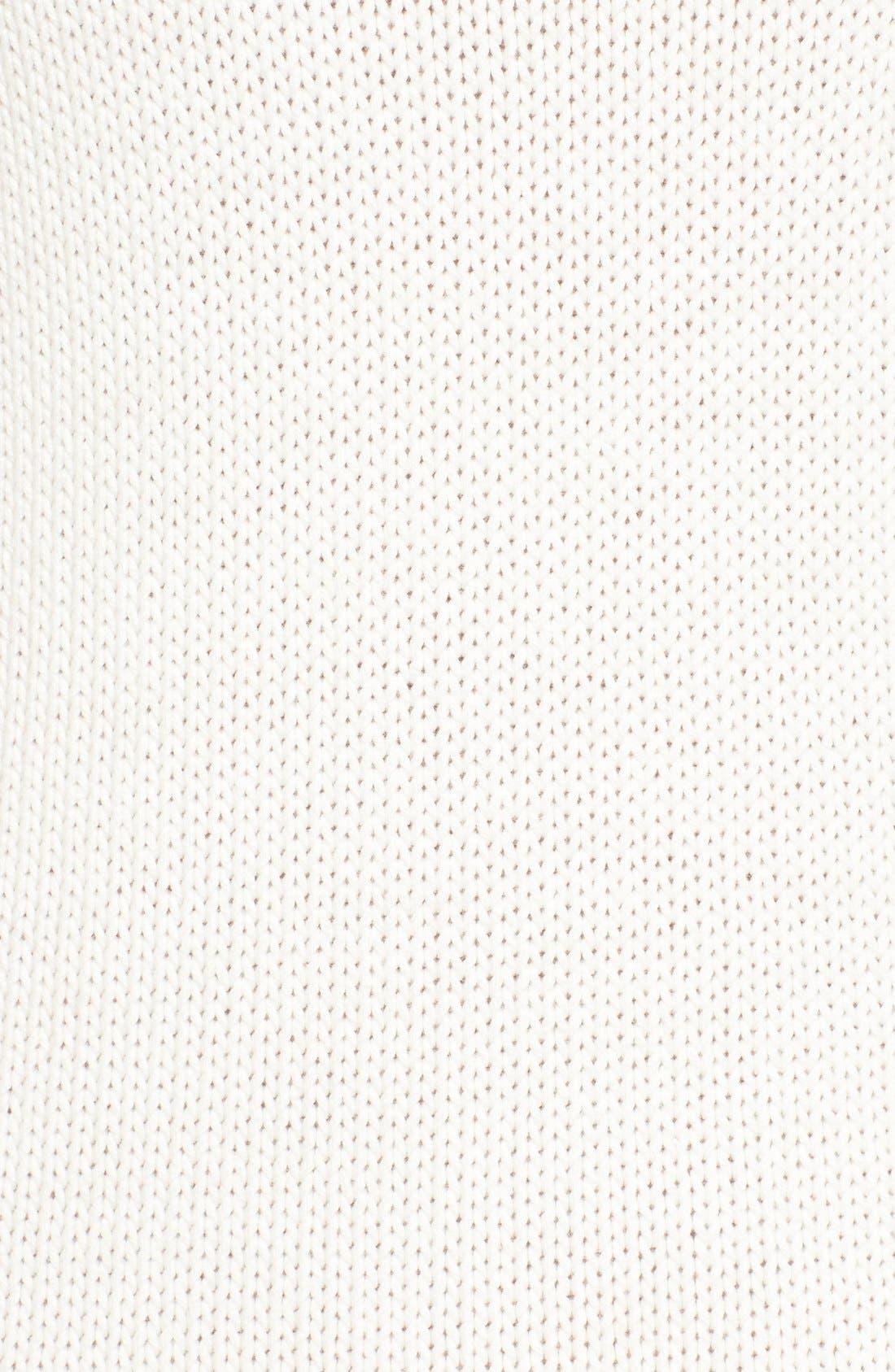 Alternate Image 5  - Amour Vert 'Helen' Illusion Knit Cotton Dress