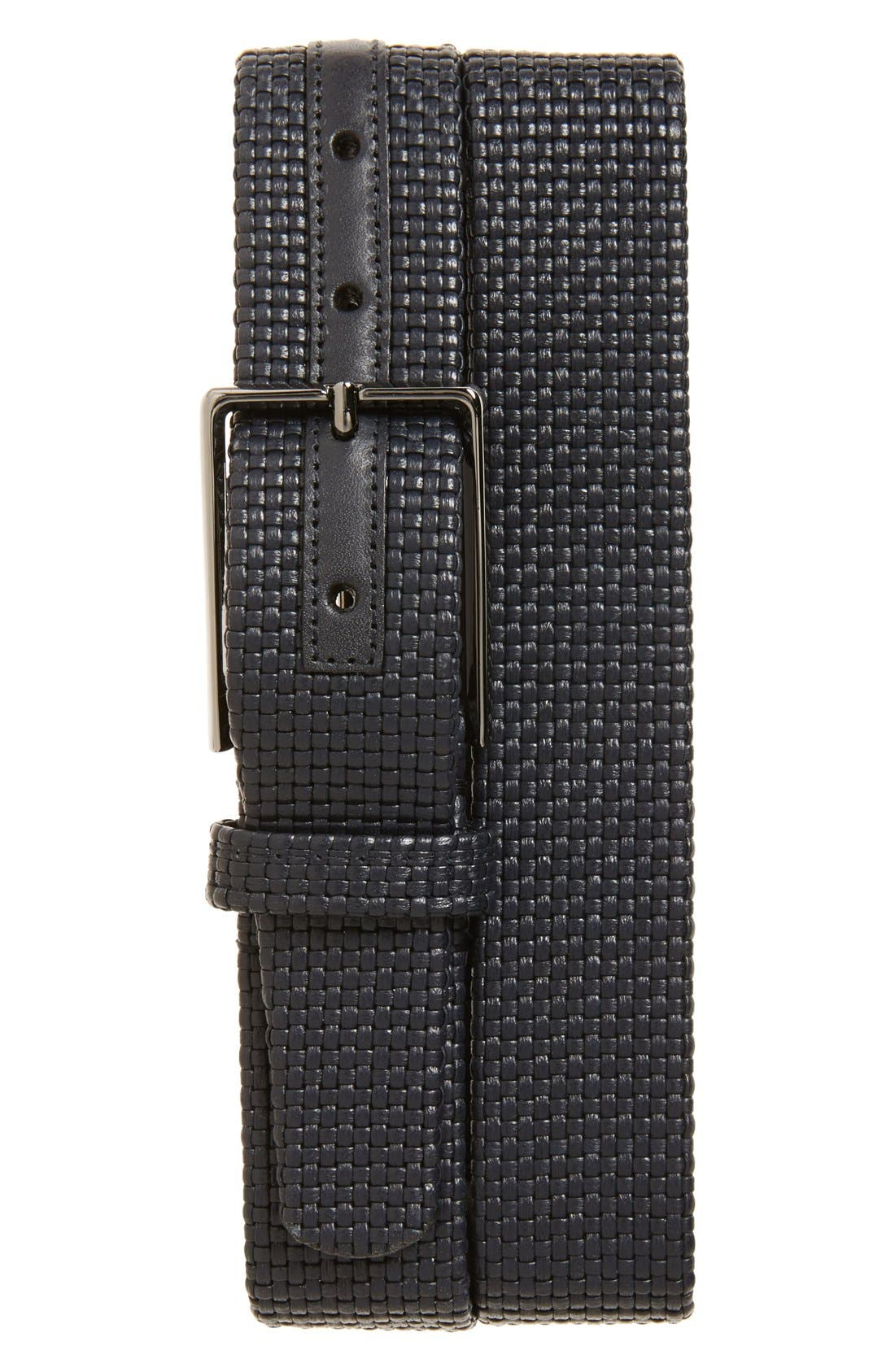 ERMENEGILDO ZEGNA Woven Leather Belt