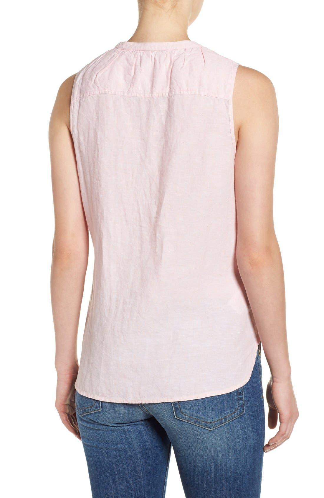 Alternate Image 2  - Tommy Bahama 'Sunset Chambray' Sleeveless Shirt