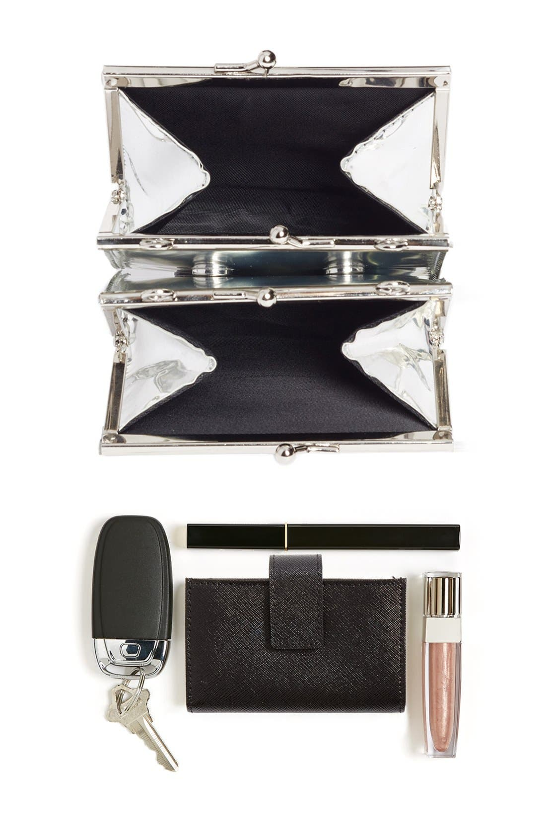Alternate Image 7  - Opening Ceremony 'Coin' Metallic Calfskin Leather Double Clutch