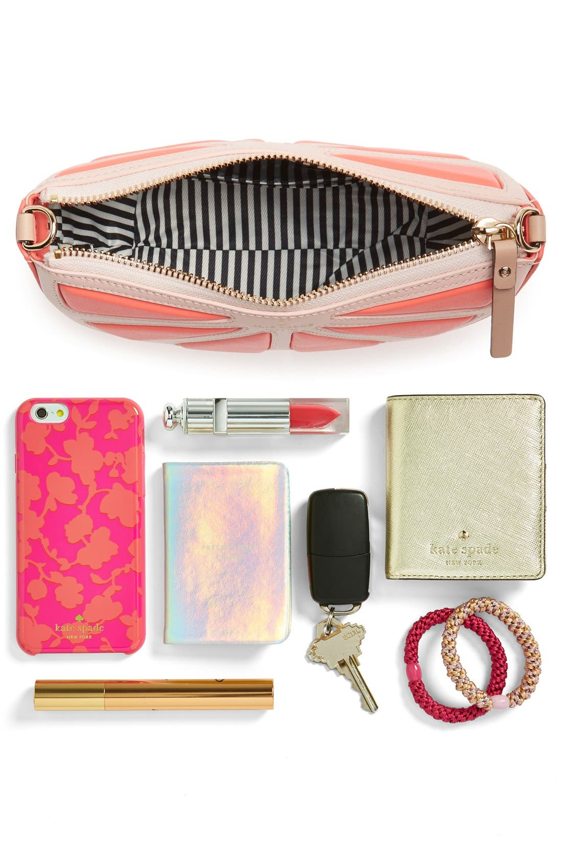 Alternate Image 7  - kate spade new york 'flights of fancy' grapefruit crossbody bag