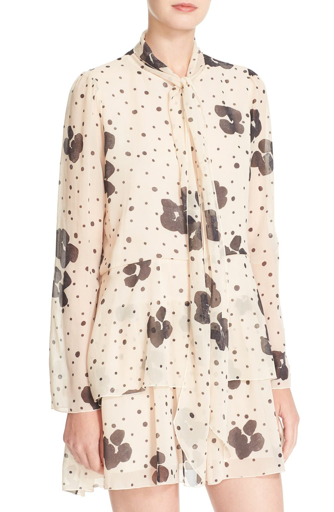 Alternate Image 4  - See by Chloé Leopard Print Silk Georgette Dress