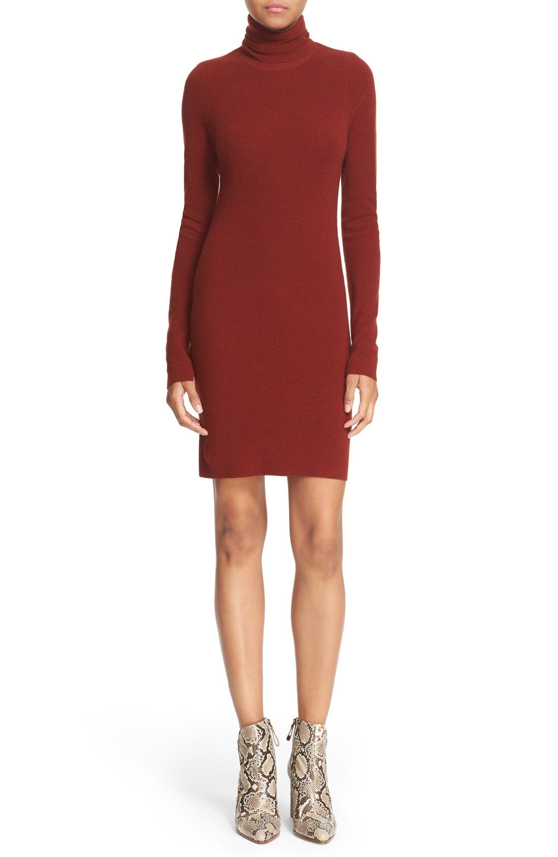Main Image - A.L.C. 'Norris' Merino Wool Blend Turtleneck Sweater Dress
