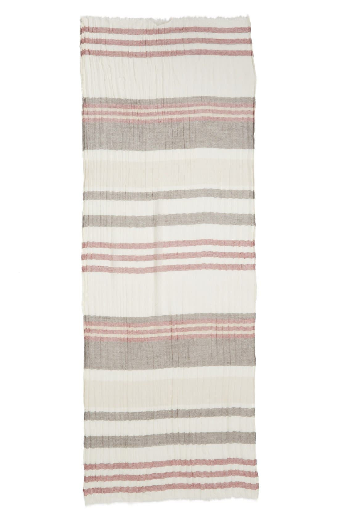 Alternate Image 2  - Caslon® Stripe Wool Wrap Scarf
