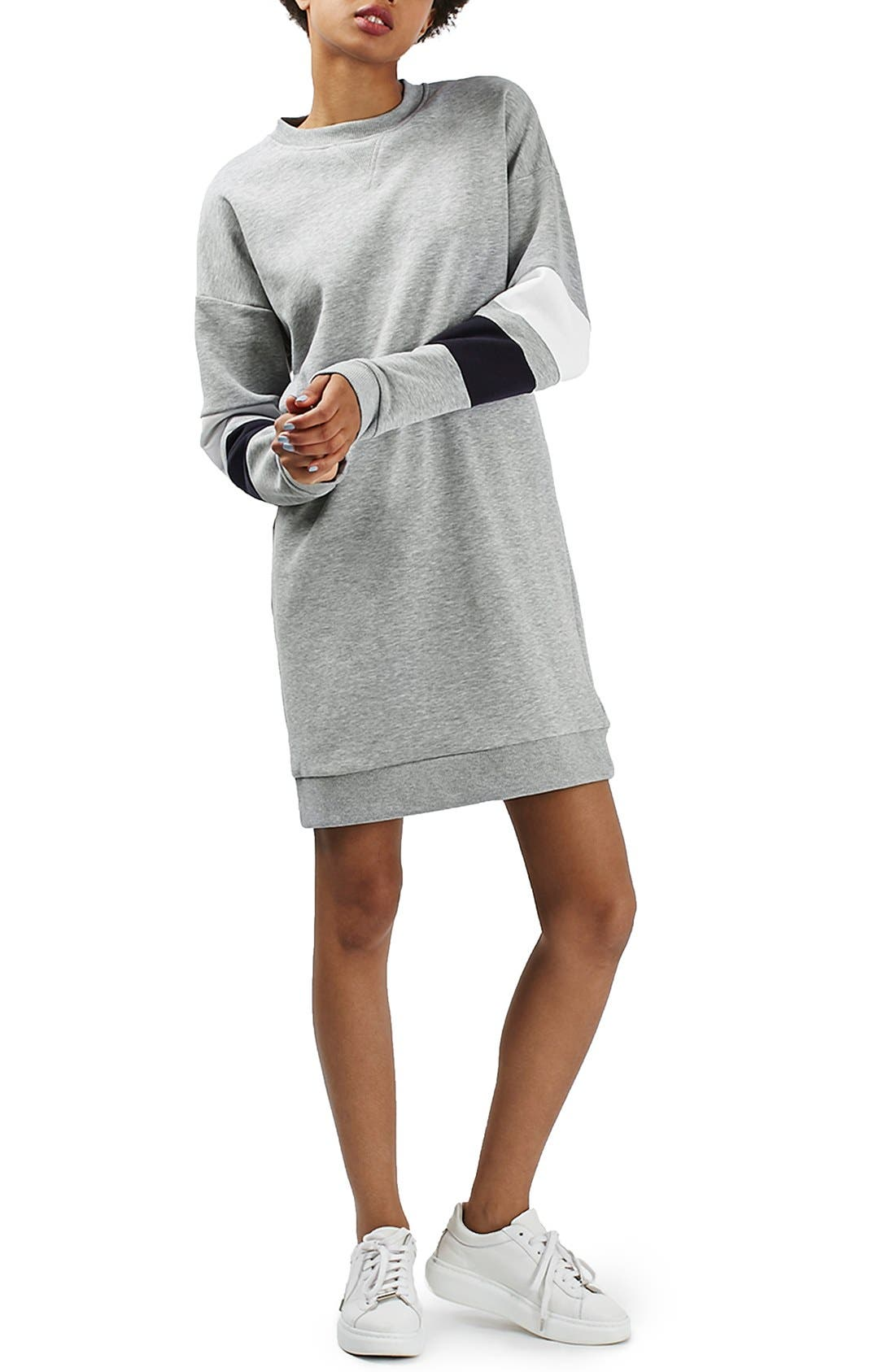 Alternate Image 3  - Topshop Colorblock Sweatshirt Dress