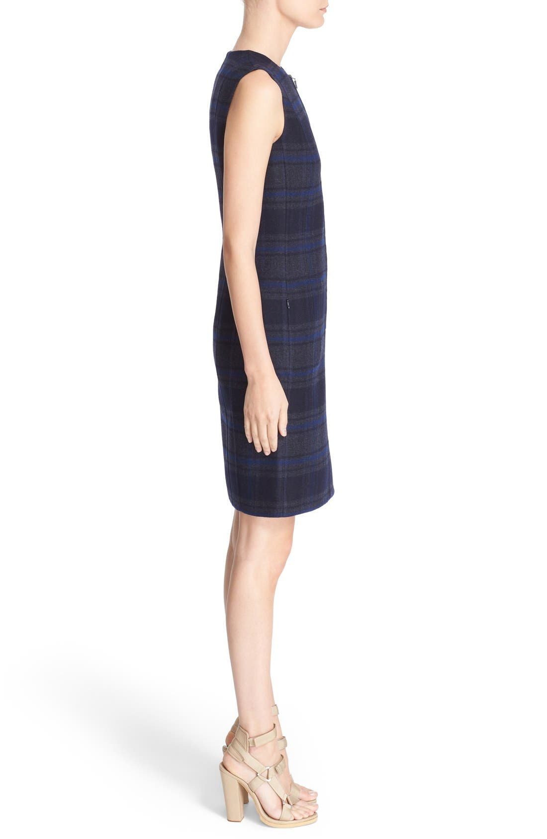 Alternate Image 5  - Akris Reversible Front Zip Double Face Wool Sheath Dress
