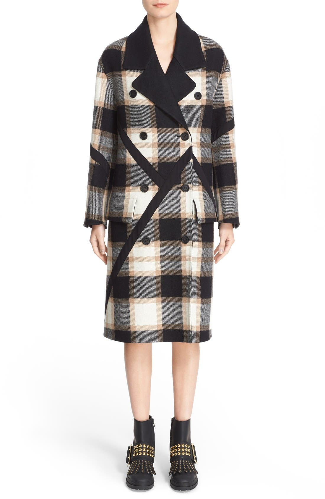 Alternate Image 1  - Burberry Tartan Plaid Wool Coat