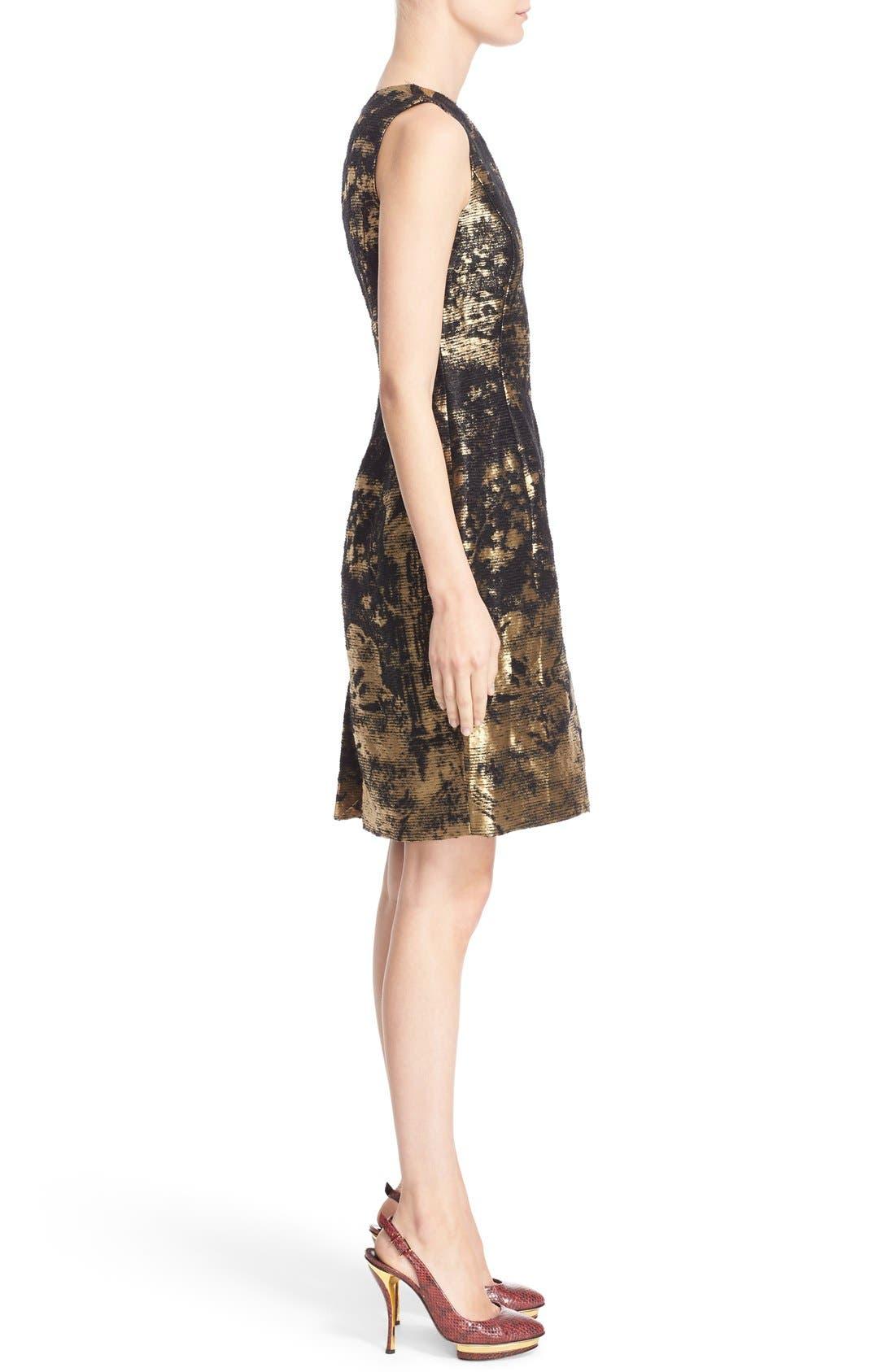 Alternate Image 5  - Oscar de la Renta Peacock Jacquard Sleeveless Sheath Dress