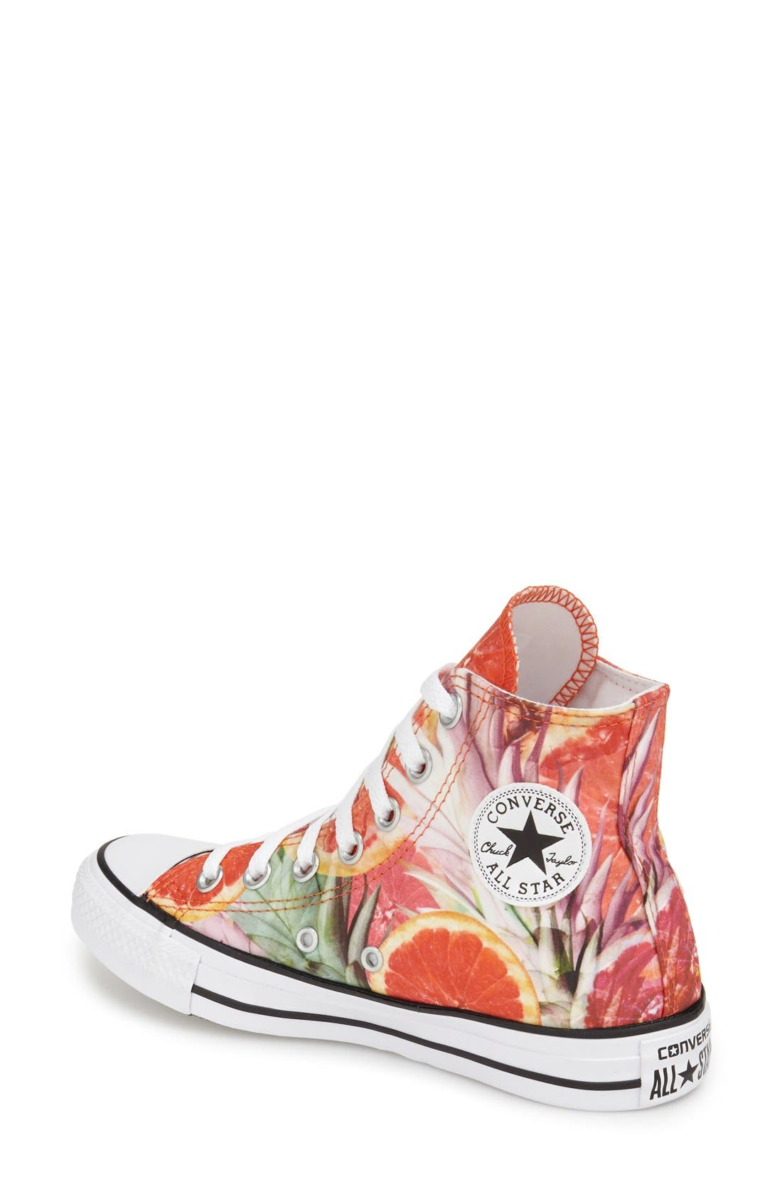 Alternate Image 2  - Converse Chuck Taylor® All Star® Grapefruit Print High Top Sneaker (Women)