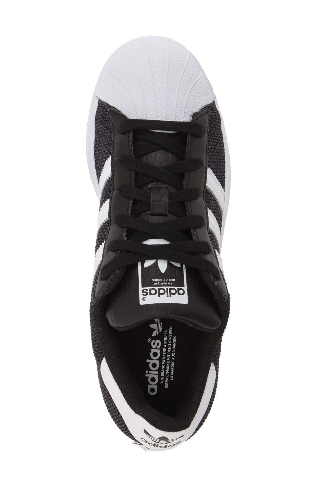 Alternate Image 3  - adidas 'Superstar' Sneaker (Big Kid)
