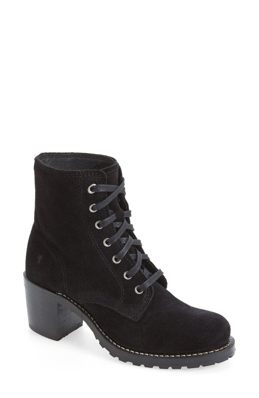 Main Image - Frye 'Sabrina' Lace-Up Bootie