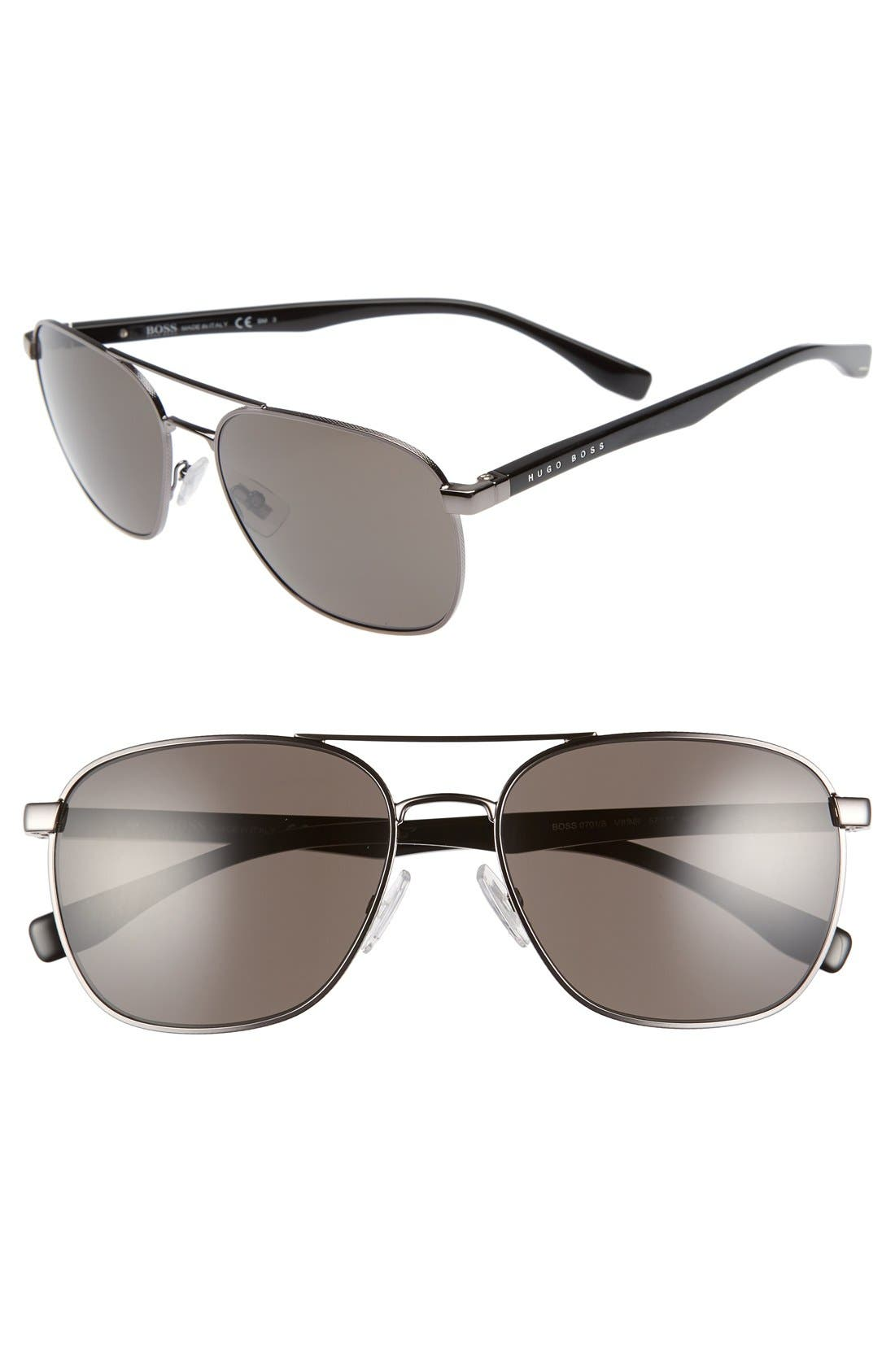 BOSS '0701/S' 57mm Aviator Sunglasses