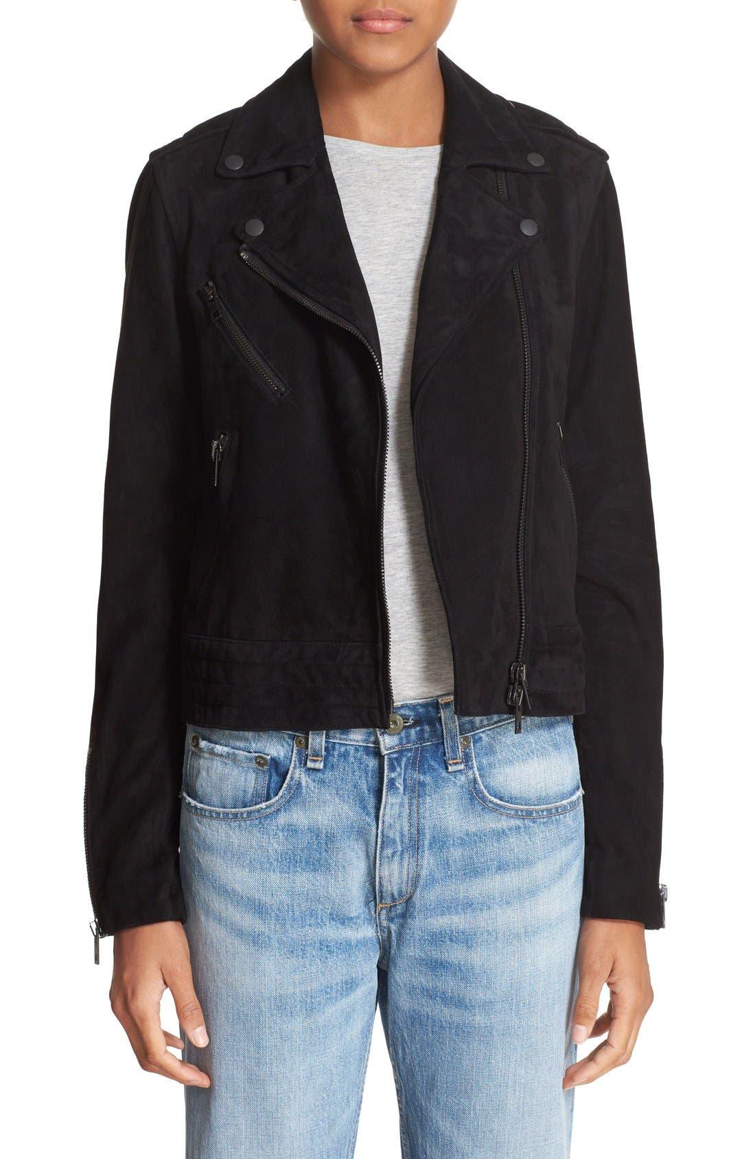 Alternate Image 1 Selected - rag & bone/JEAN 'Mercer' Suede Jacket
