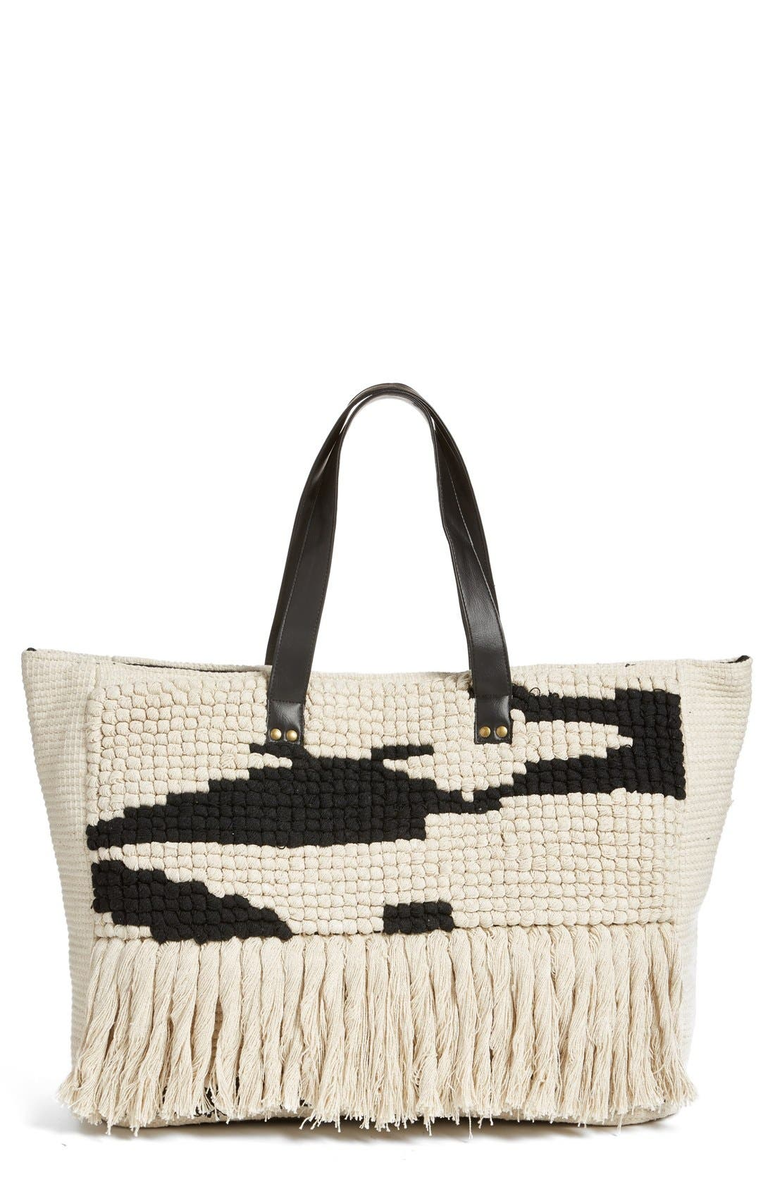 Alternate Image 1 Selected - Amuse Society Woven Tote