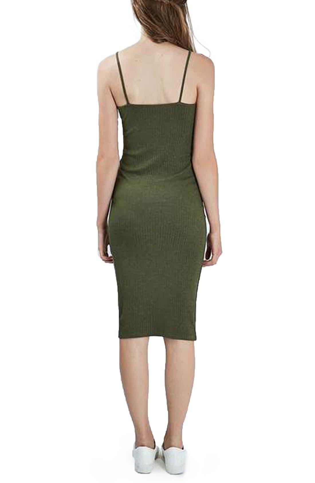 Alternate Image 2  - Topshop Ribbed Body-Con Midi Dress