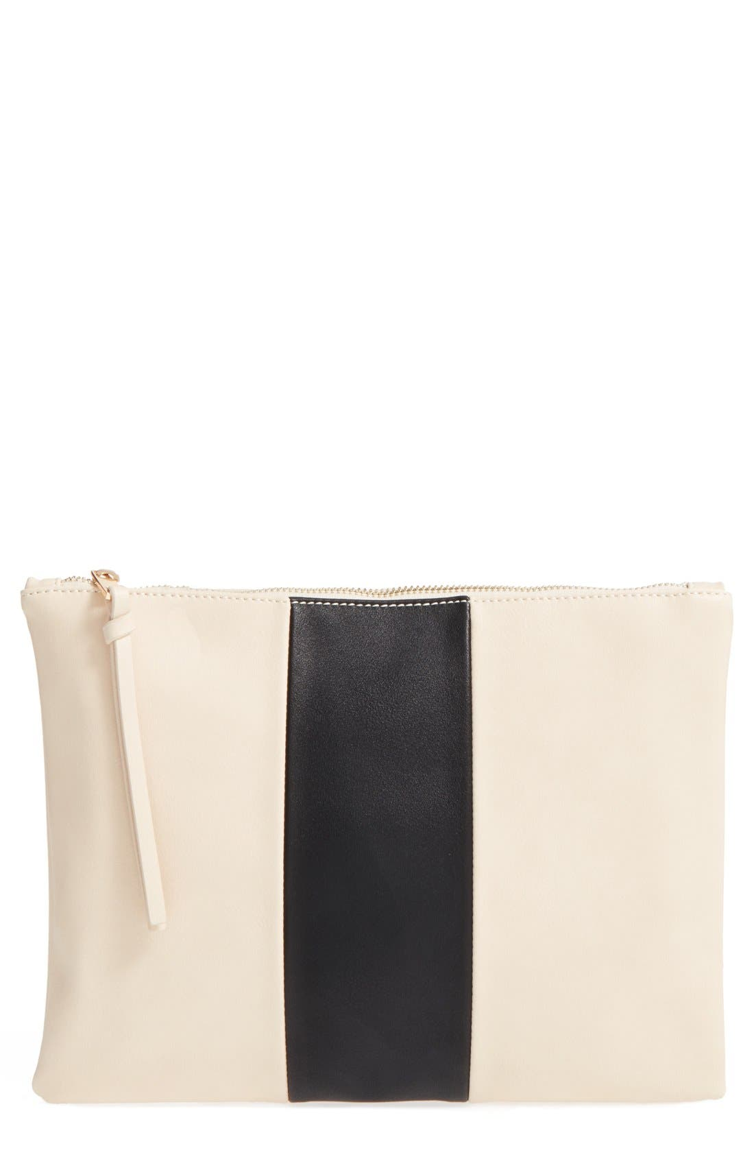 Main Image - Sole Society 'Radcliffe' Faux Leather Clutch