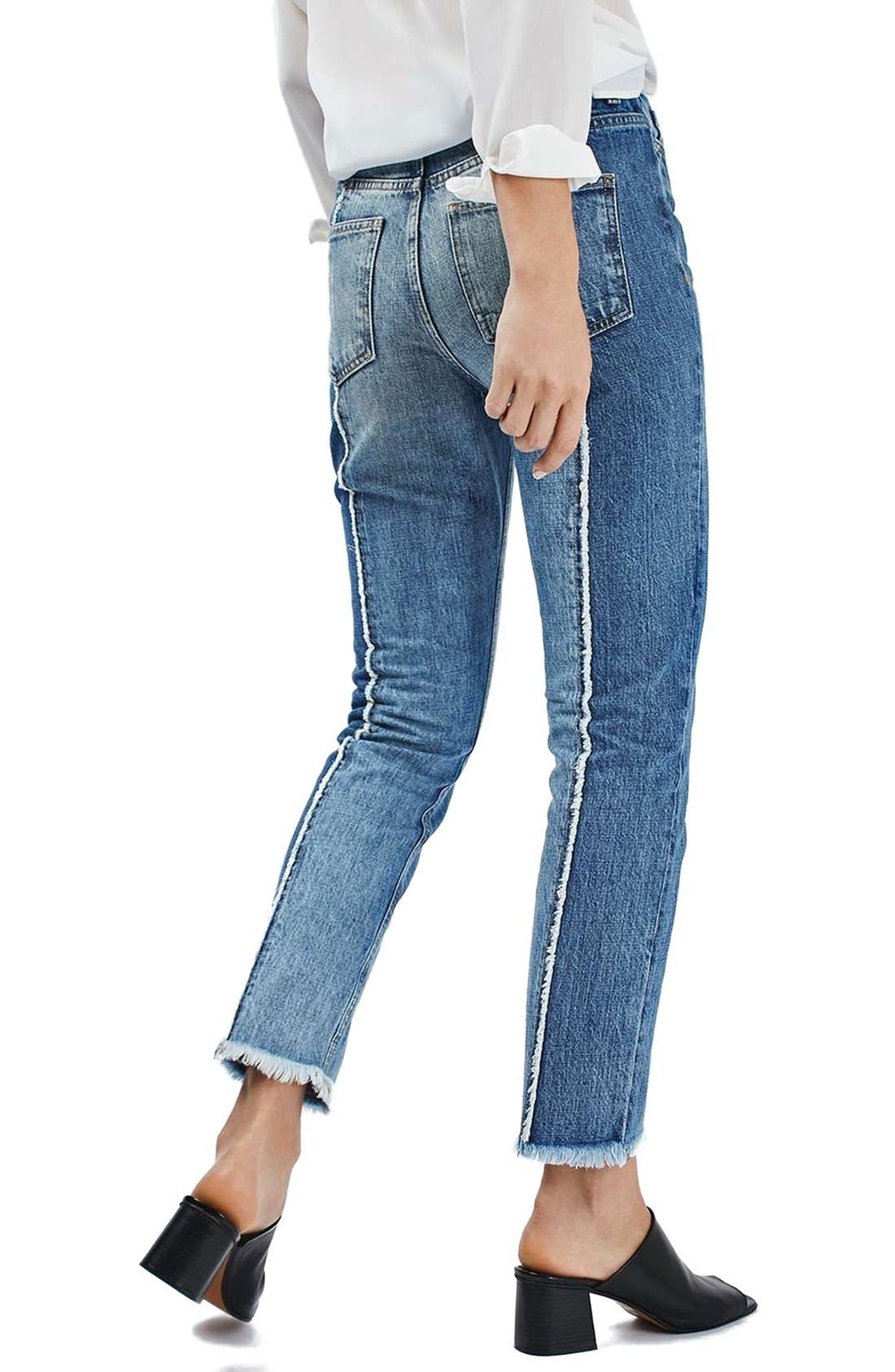 Alternate Image 3  - Topshop Panel Crop Straight Leg Jeans