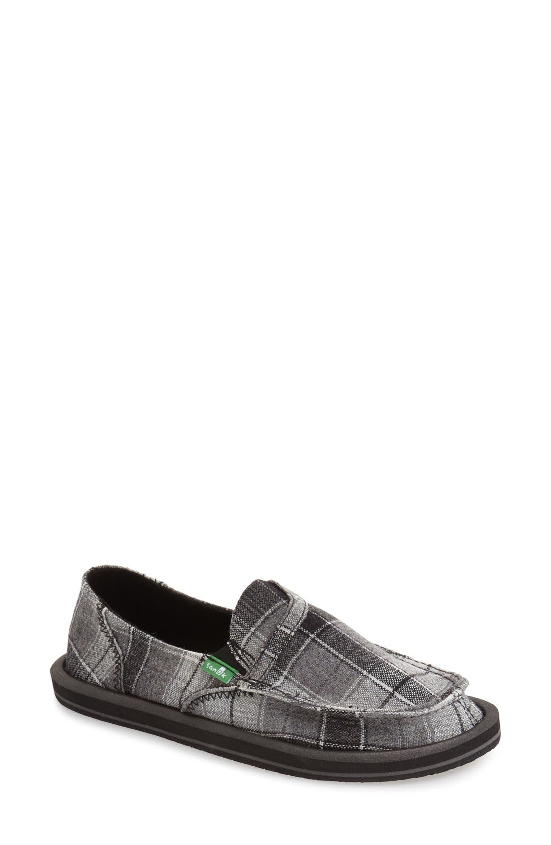 Sanuk 'Pick Pocket' Plaid Slip-On (Women)