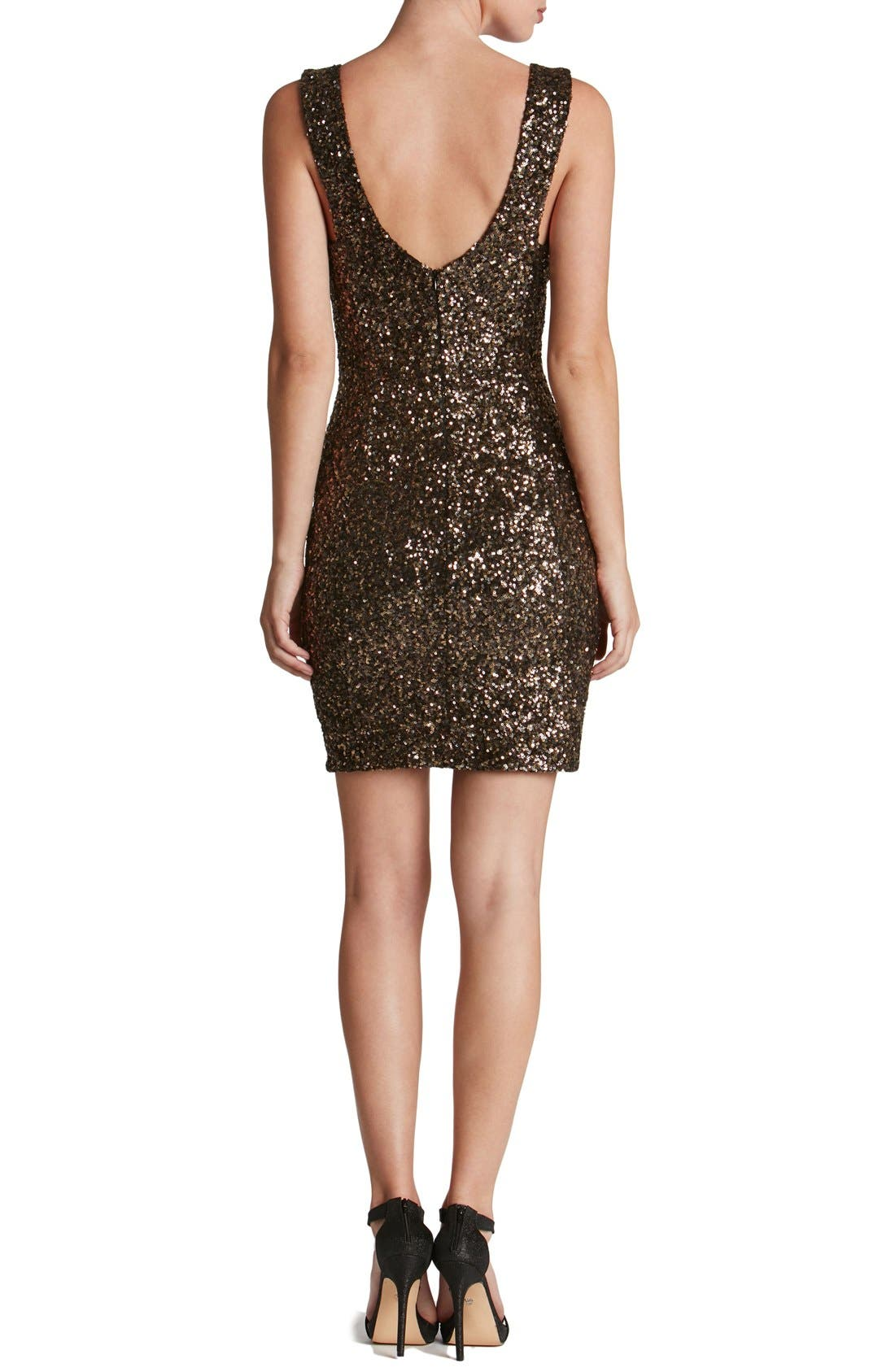 Alternate Image 2  - Dress the Population 'Sam' Plunge Sequin Body-Con Dress