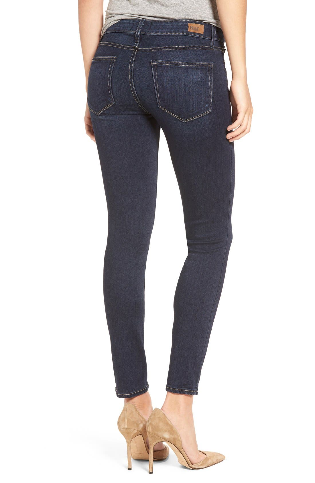 Alternate Image 3  - PAIGE Transcend - Verdugo Ankle Ultra Skinny Jeans (Hartmann) (Nordstrom Exclusive)