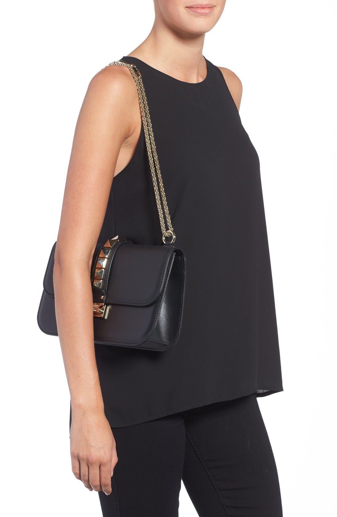 Alternate Image 2  - Valentino 'Medium Lock' Studded Leather Shoulder Bag