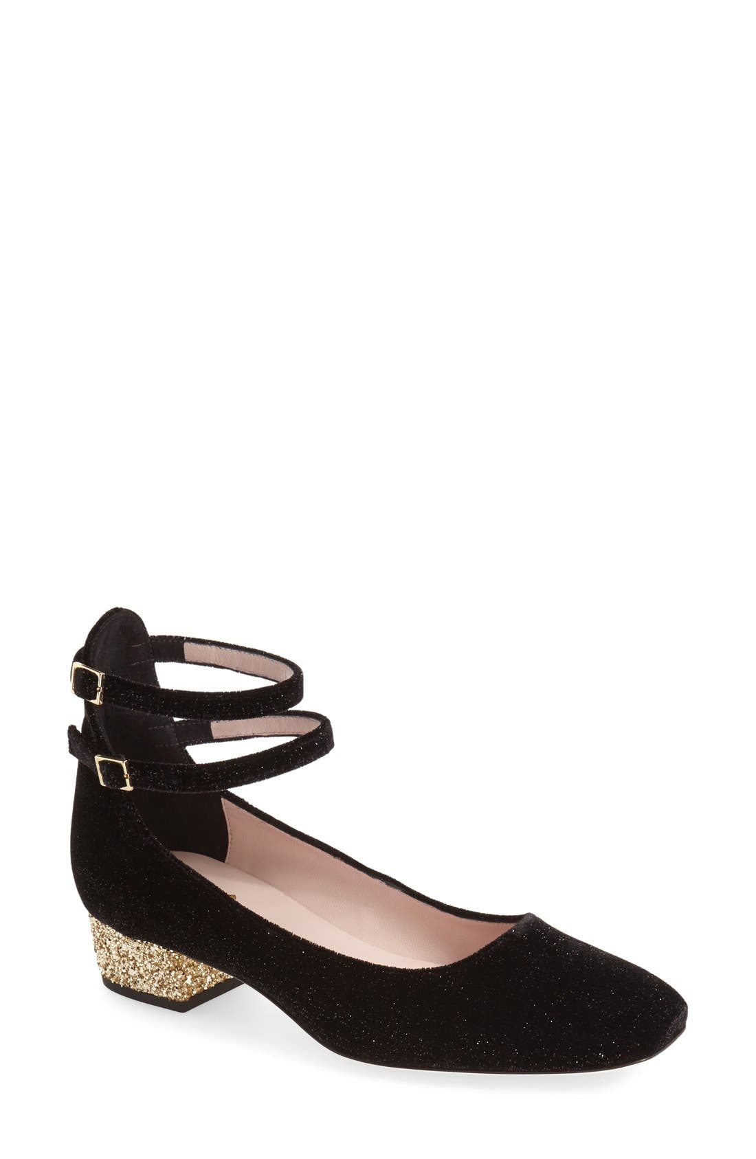 Main Image - kate spade new york 'marcellina' ankle strap pump (Women)