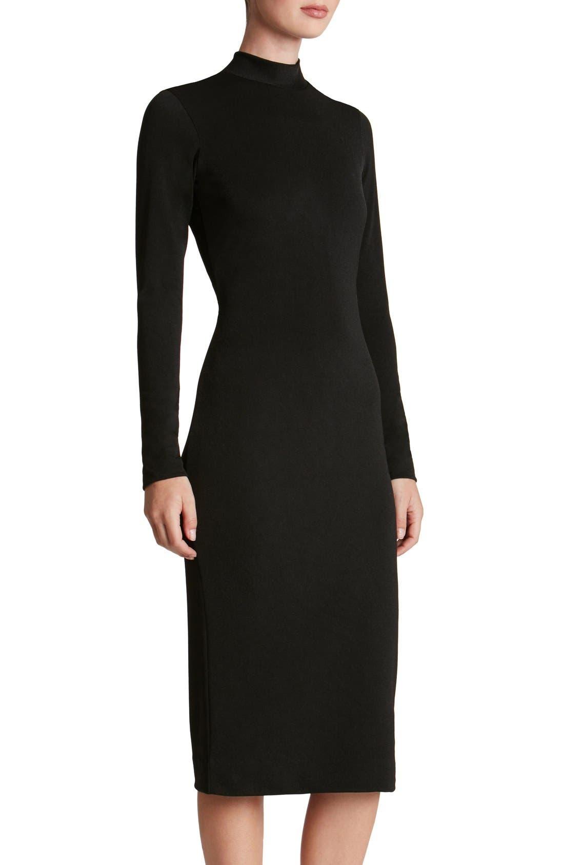 DRESS THE POPULATION 'Quinn' Knit Midi Dress