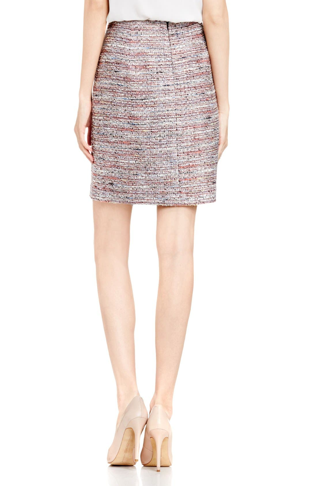Alternate Image 3  - Vince Camuto Tweed Pencil Skirt (Regular & Petite)