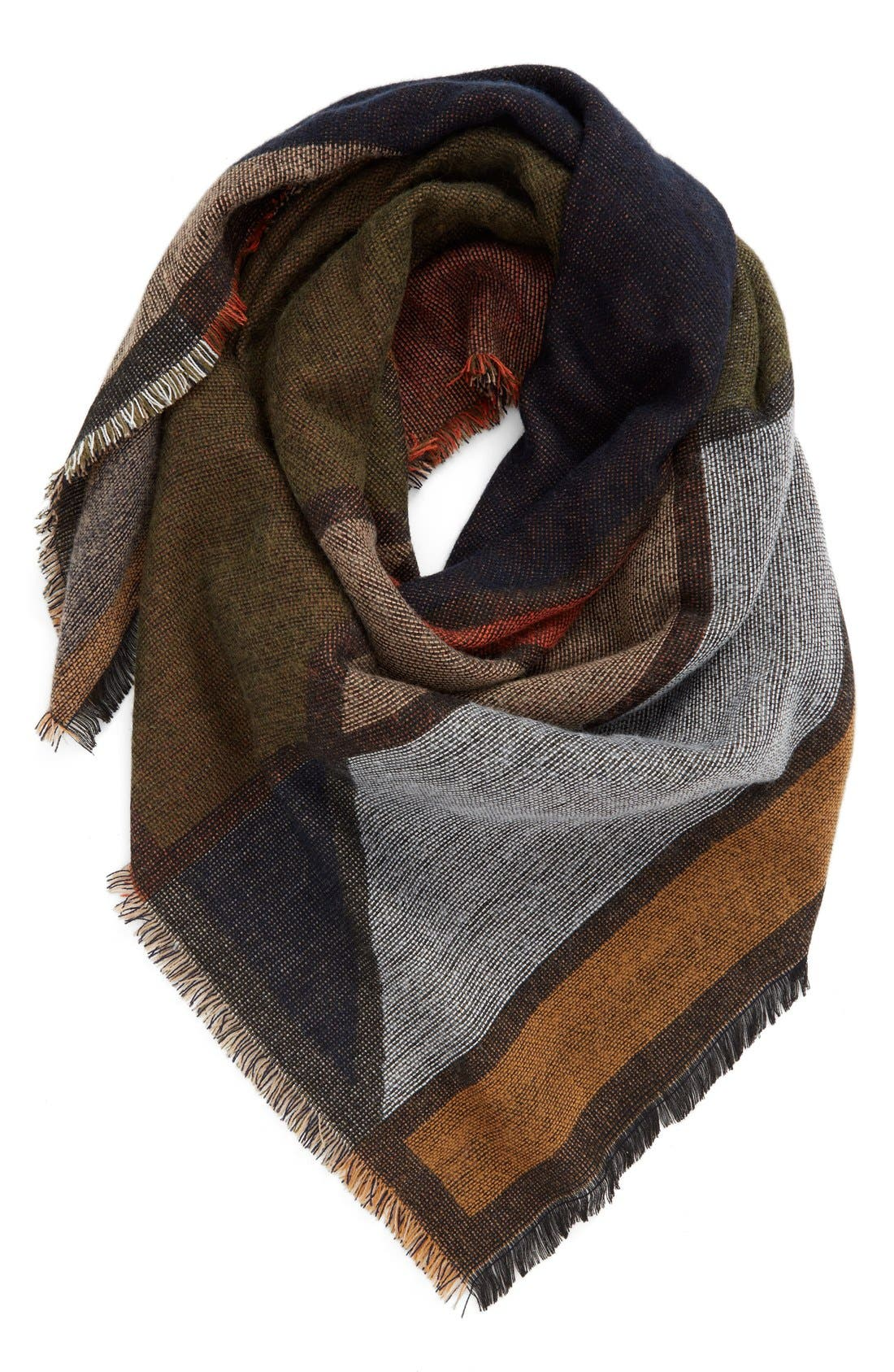 Main Image - BP. Geo Pattern Woven Square Scarf