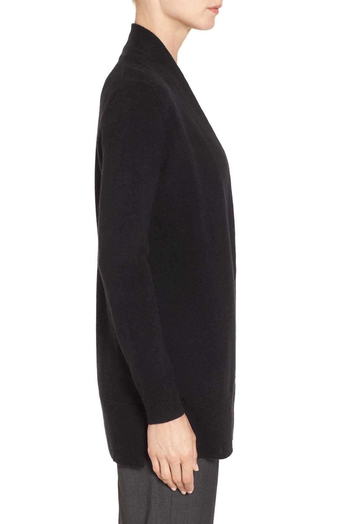 Alternate Image 3  - Nordstrom Collection Open Front Cashmere Cardigan