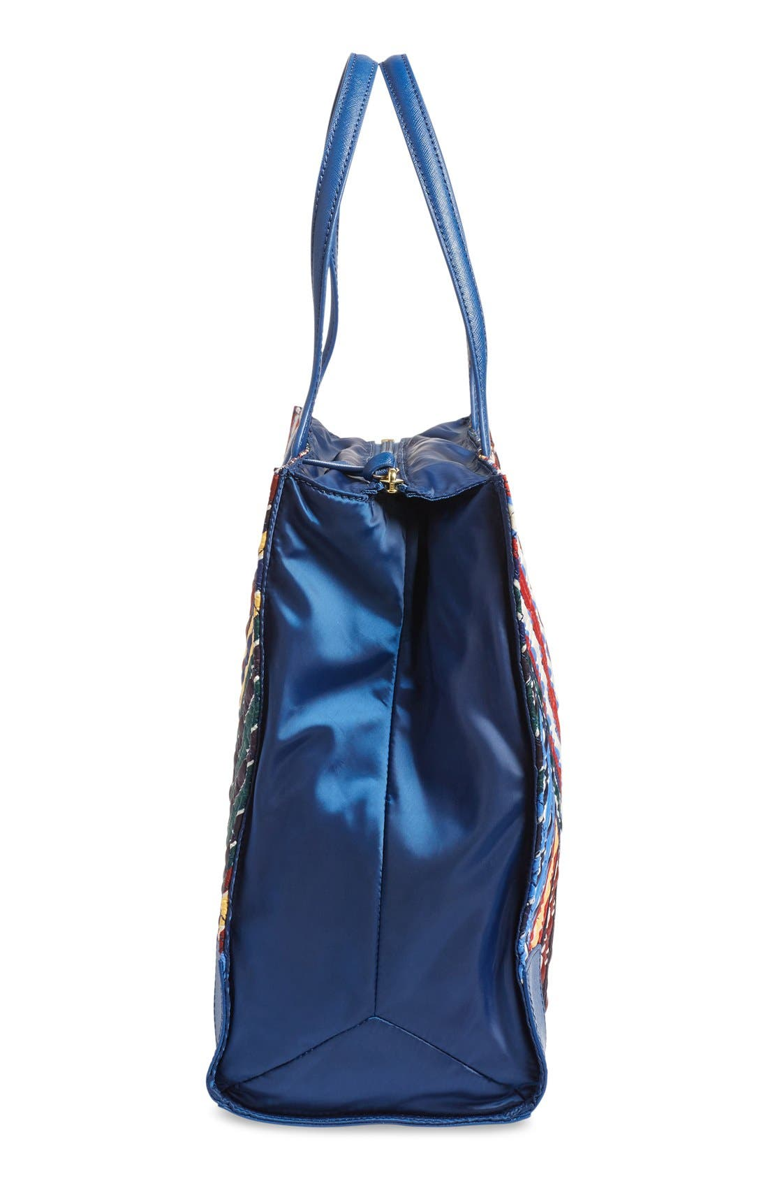 Alternate Image 4  - Tory Burch 'Ella - Quilted Stripe' Tote