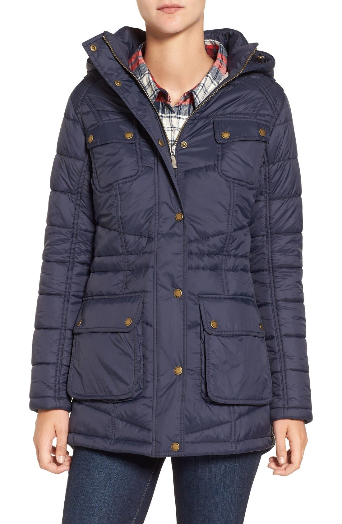 Alternate Image 1 Selected - Barbour 'Circlip' Water Resistant Quilted Coat