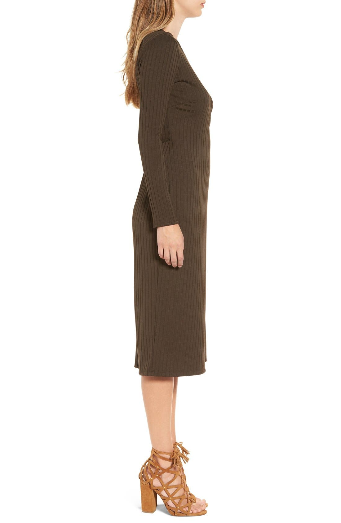 Alternate Image 3  - ASTR Rib Knit Wrap Dress