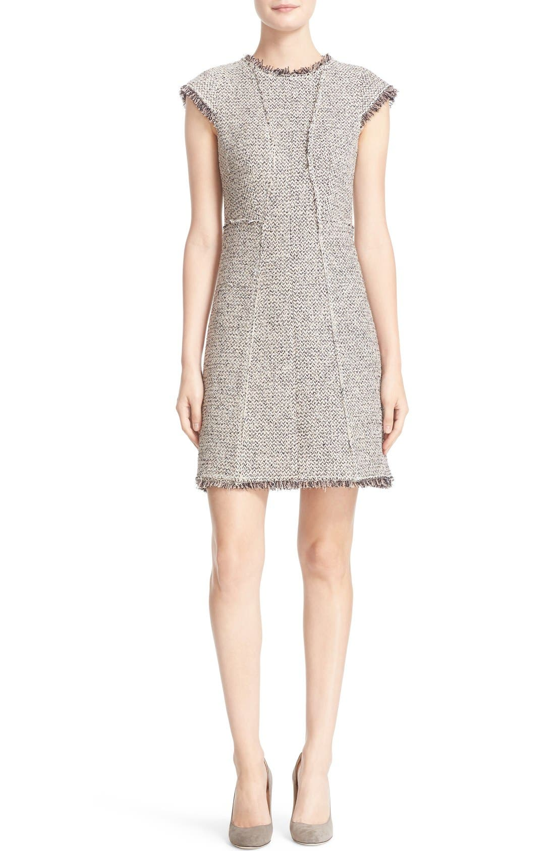Alternate Image 1 Selected - Rebecca Taylor Structured Tweed Sheath Dress
