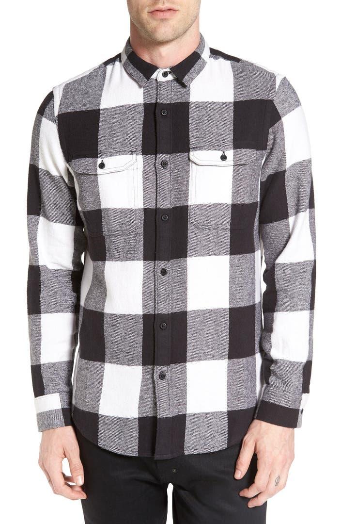 The rail buffalo check flannel shirt nordstrom for Buffalo check flannel shirt