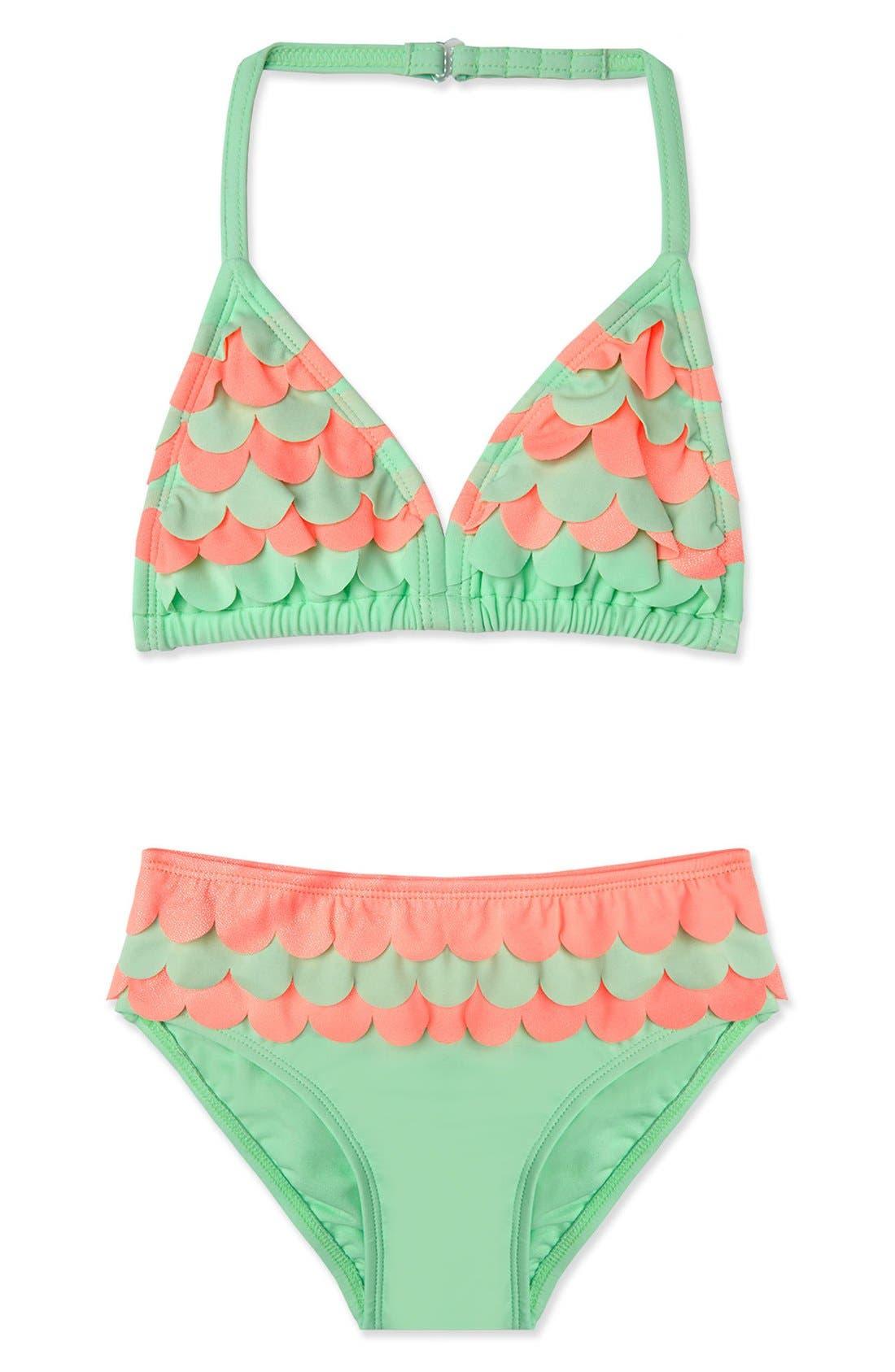 Hula Star 'Mermaid' Two-Piece Swimsuit (Toddler Girls & Little Girls)
