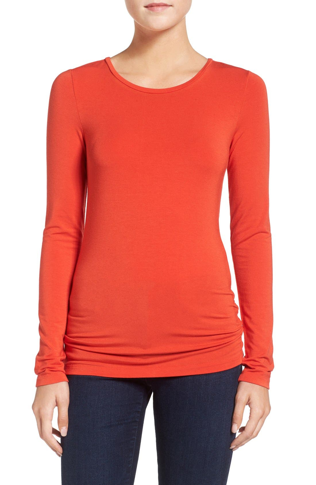 Alternate Image 1 Selected - Halogen® Long Sleeve Modal Blend Tee