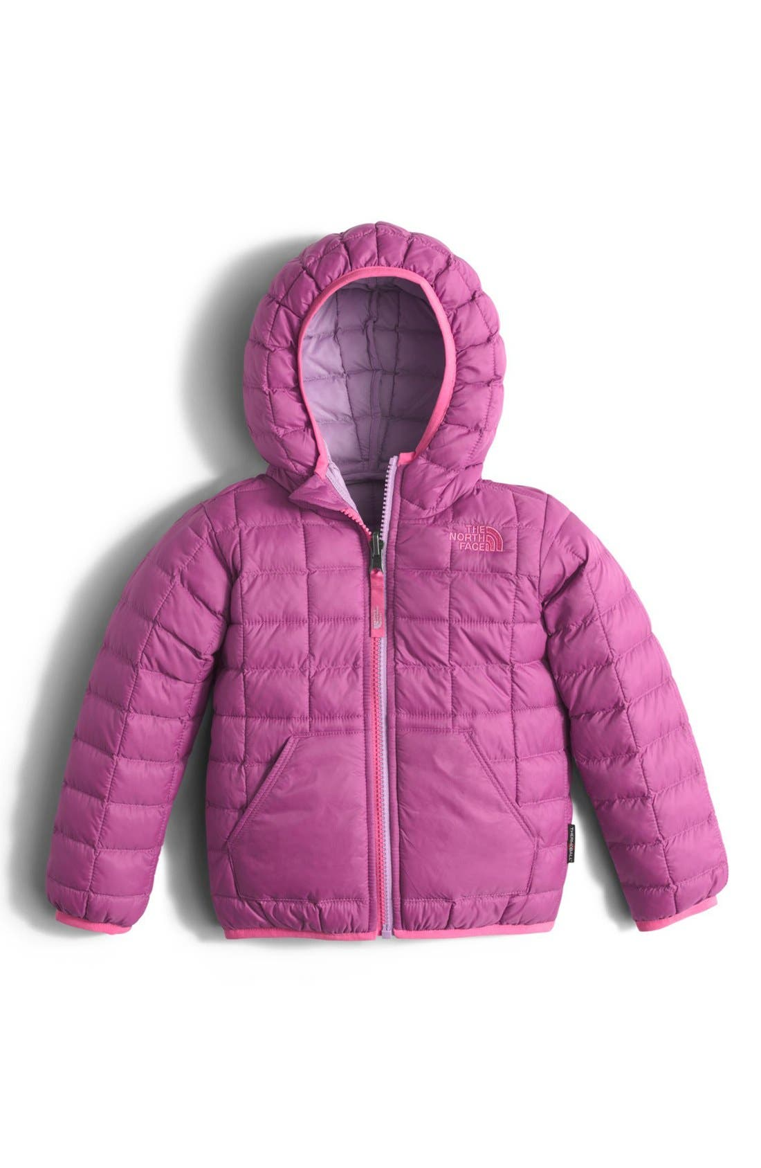 Main Image - The North Face 'ThermoBall™' PrimaLoft® Hooded Jacket (Toddler Girls & Little Girls)