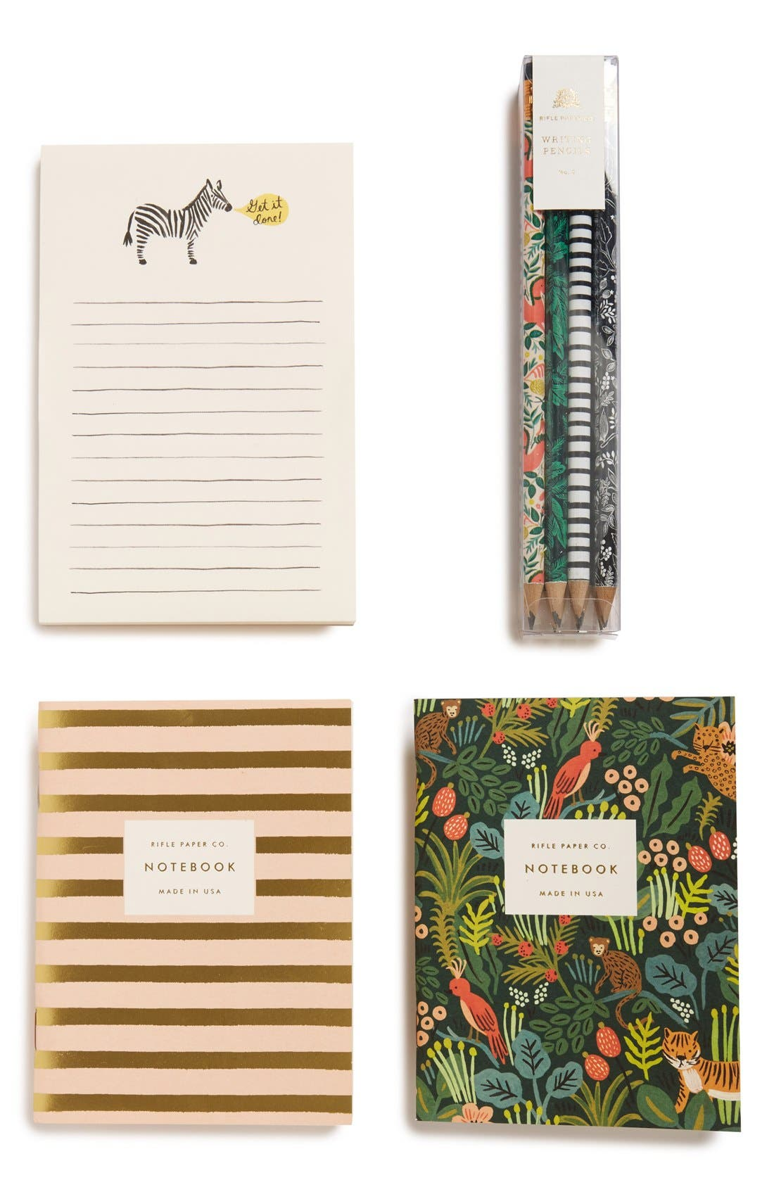 Main Image - Rifle Paper Co. Notebooks, Notepad & Pencil Set