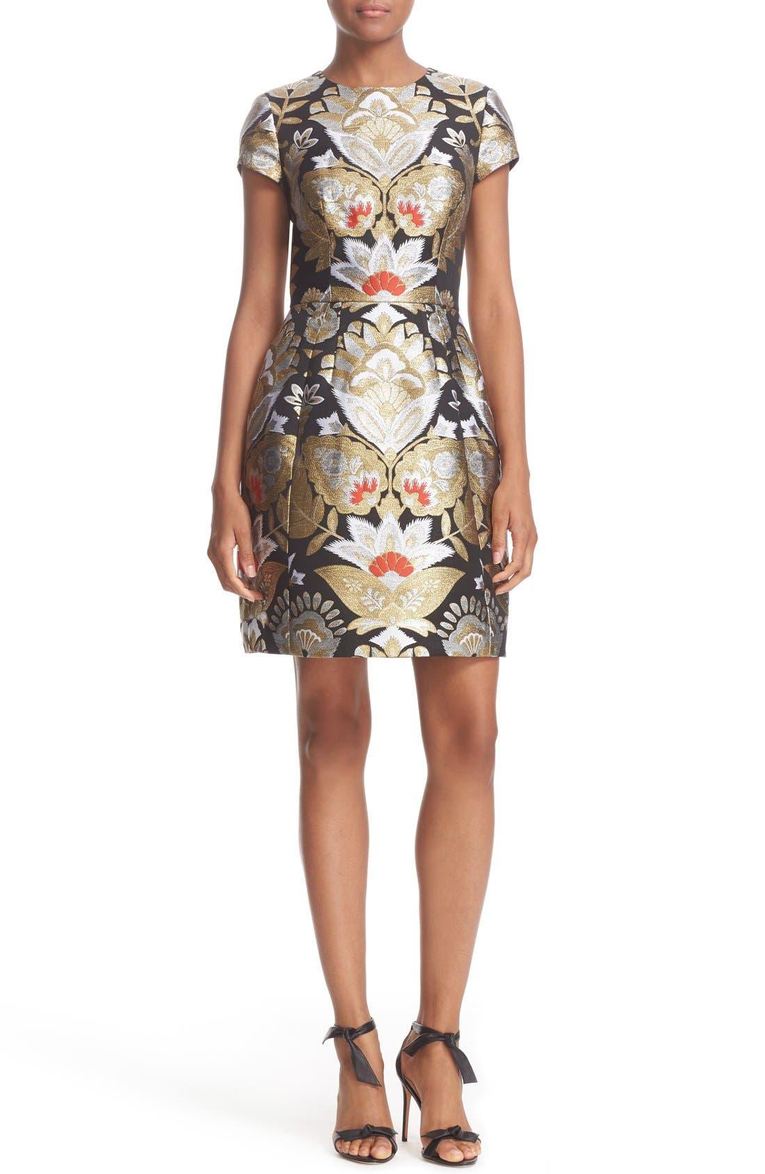 Main Image - Ted Baker London Imoen Opulent Orient Jacquard Fit & Flare Dress