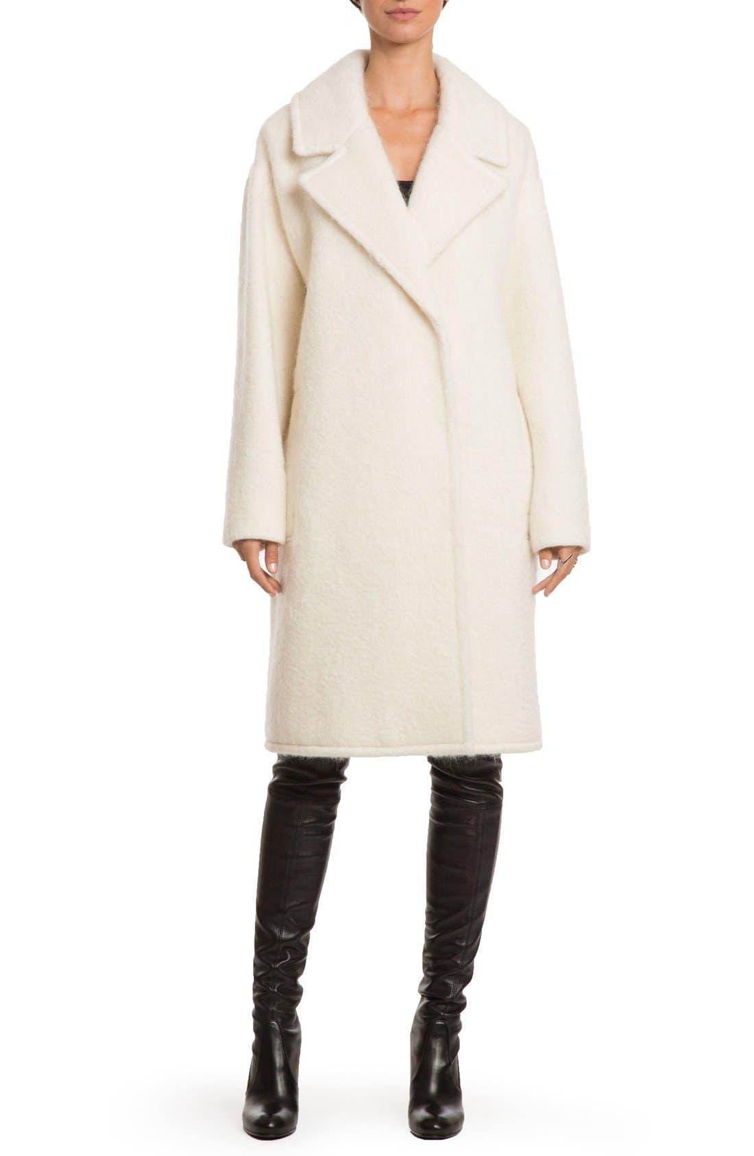 Main Image - Badgley Mischka 'Jenna' Snap Back Cocoon Coat