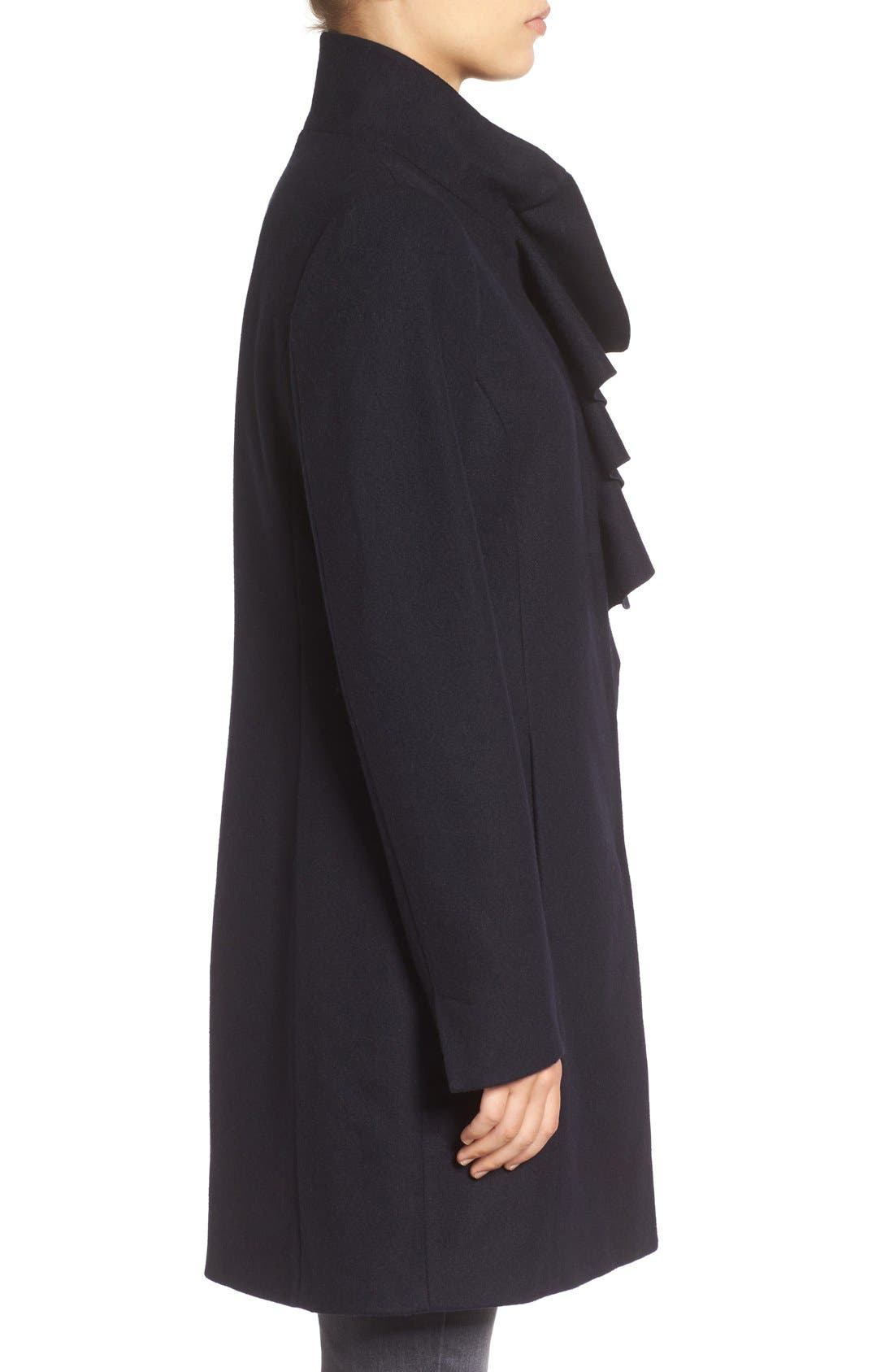 Alternate Image 3  - Tahari Kate Ruffle Wool Blend Coat