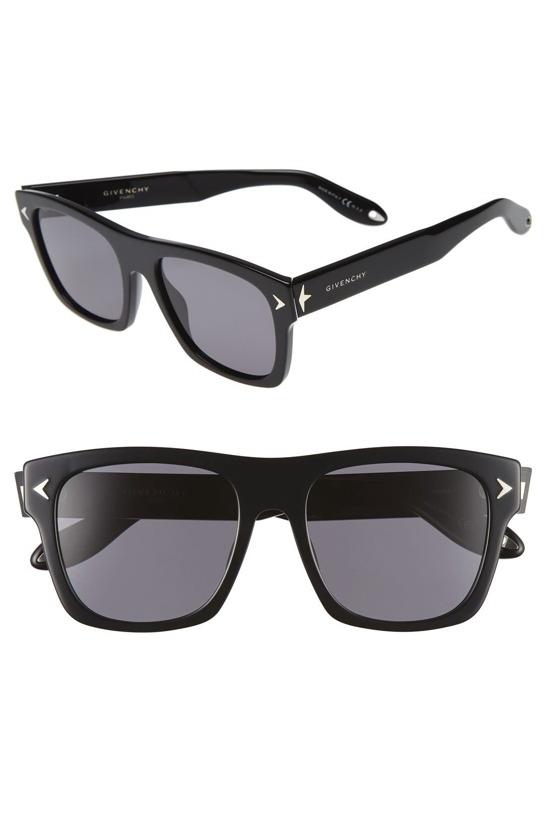 Givenchy 55mm Polarized Retro Sunglasses