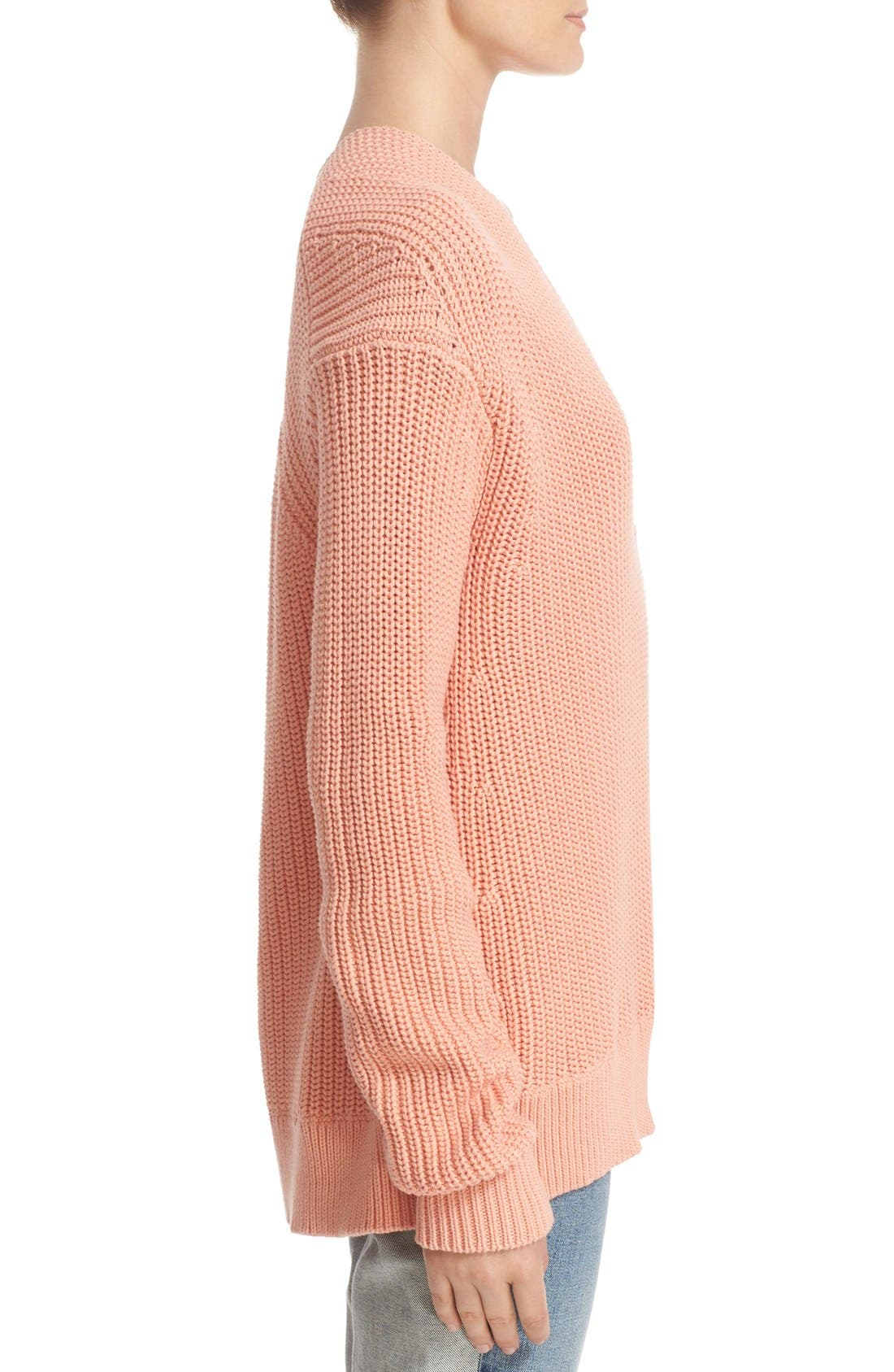 Alternate Image 3  - T by Alexander Wang Knit Cotton Sweater