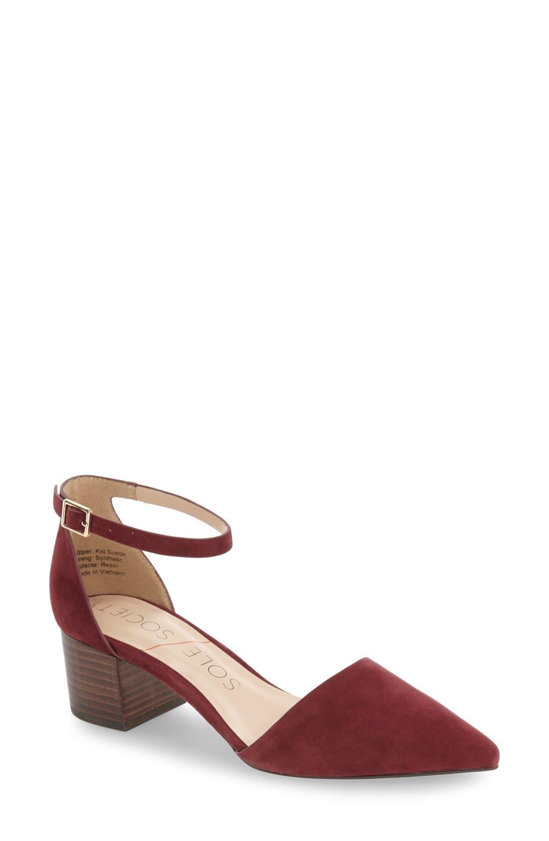 Alternate Image 1 Selected - Sole Society 'Katarina' Block Heel Pump (Women)