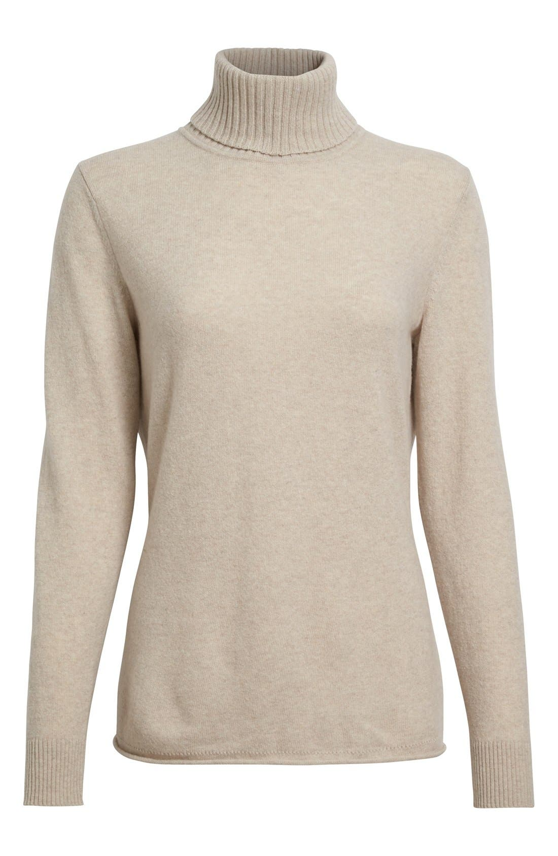 Alternate Image 4  - Lafayette 148 New York Wool & Cashmere Turtleneck Sweater